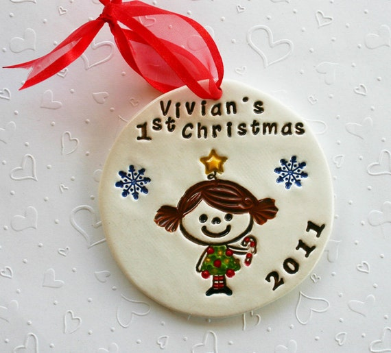 Items Similar To Personalized Baby S First Christmas