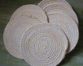 Pale Butter Coasters-- Set of Six