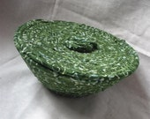 Small Dark Kelly Green Bowl With Lid