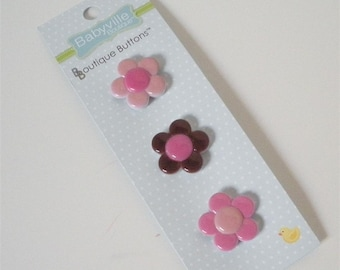 Flower Buttons by Babyville Boutique