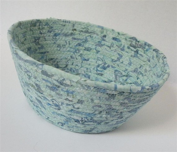 Large Mint Green and Blue Bowl