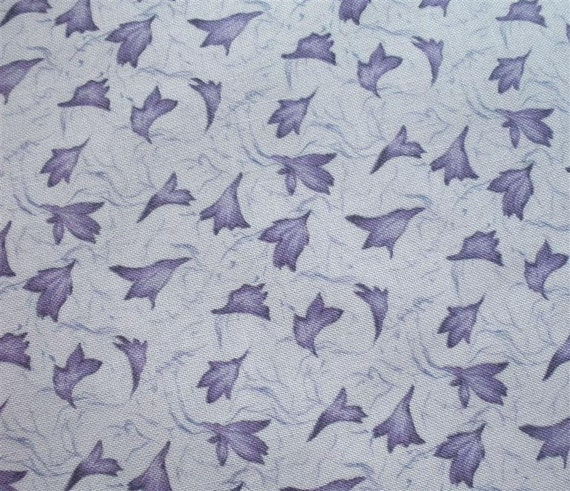 Victoria's Scatter Garden Purple Fabric-- ONE and ONE-THIRD yard
