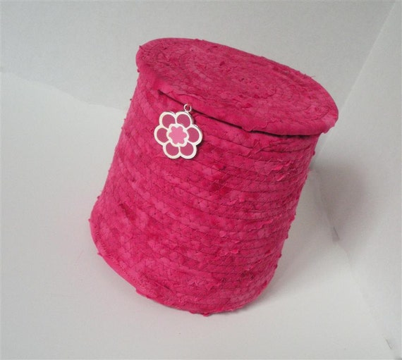 Fiercely Fuschia Cylindrical Container