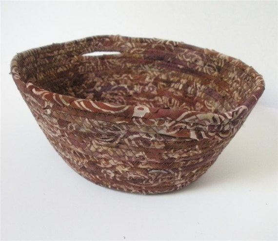Mocha Brown Basket with Handles