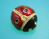 Lucky Ladybug Brooch Faberge style - Vintage