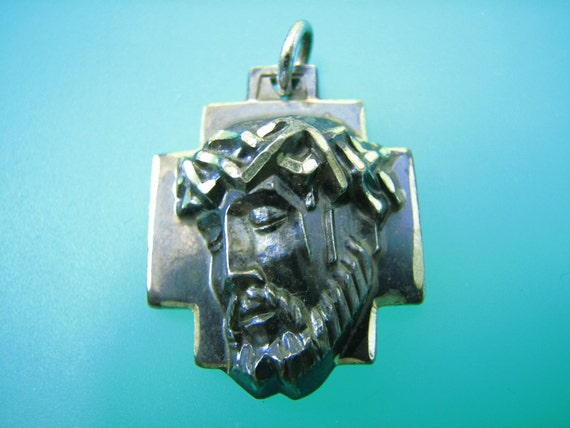 M. de Jean Jesus Crown of Thorns Pendant- Vintage Sterling