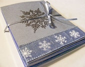 Silver Snowflake Cards