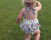 Sunkissed Sun Suit Ruffle Bottom 0 3 6 9 12 18 24 2t 3t 4t YOU DESIGN