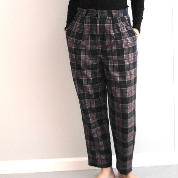 New Women Tuxedo Pleated Pants Black