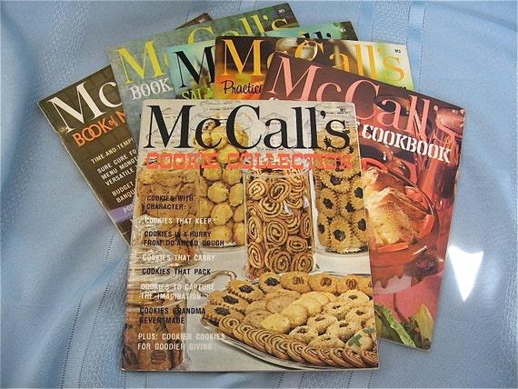 Six McCalls Vintage Cookbooks