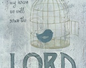 Serve the Lord - vintage style art print
