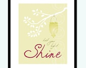 Let Your Light Shine - modern fine art print