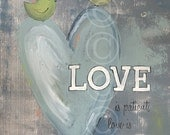 Christian Art - Love is Patient Love is Kind - word art print 1 Corinthians 13:4