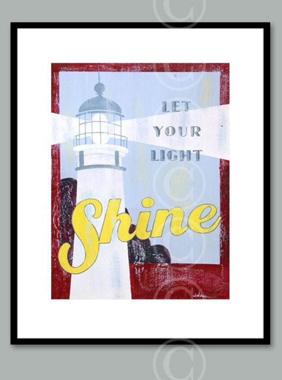 SALE: Let Your Light Shine lighthouse fine art print