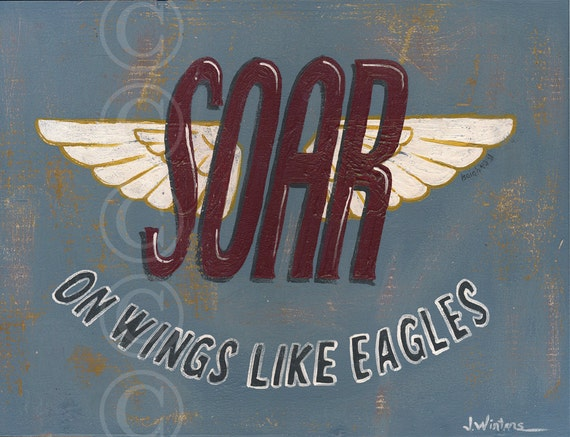 Items similar to soar on wings like eagles retro for Vintage sites like etsy
