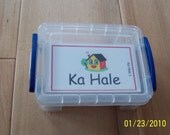 FLASH CARDS (SET 1) - 'Olelo Hawai'i / English -  80 cards plus storage box