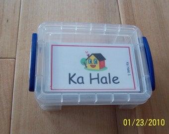 FLASH CARDS (SET 1) - 'Olelo Hawai'i / English -  80 cards plus storage box