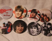 DAVY JONES The MONKEES buttons 8 pin back  badges photo image