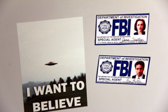 The X-Files MAGNET 4x6  mini I Want To Believe poster (only) custom listing for Alice