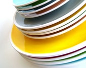 The Sylvie Collection Set of Eight Solid Salad Plates- You Choose Your Colors