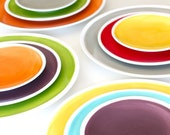The Sylvie Collection- Set of Two Solid Dinner Plates You Choose Your Colors