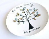 The Family Tree Plate Fabulous Gift for Grandparents by Aedriel Originals