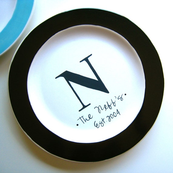 The Monogrammed Collection- Personalized Small Plate