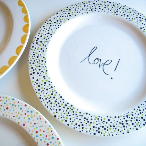 Choose Your Word Large Plate As Featured at Apartment Therapy- Valentine's Day Gift