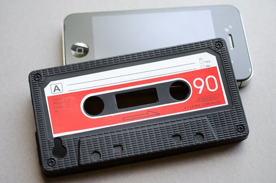 Cassette Mixed Tape iPhone 4g and 4gs Rubber Cell Phone Cover