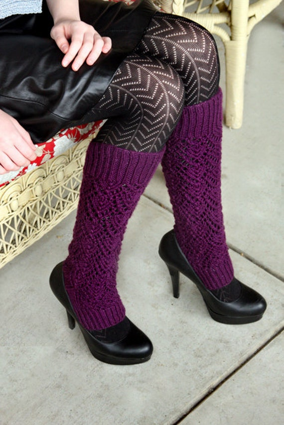 Knitting Pattern- Lacy Legwarmers