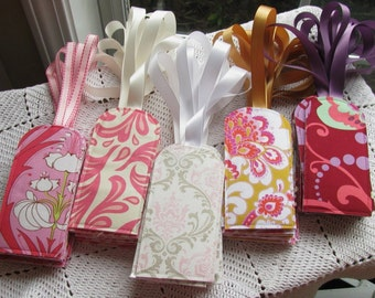 100 You Choose The Fabric -Custom Luggage Tags - Wedding Favors