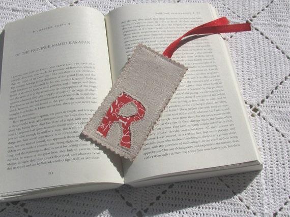 Monogrammed Bookmark - Letter R