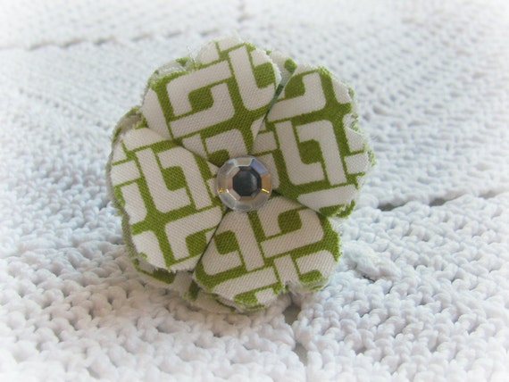 Fabric Flower Cocktail Ring