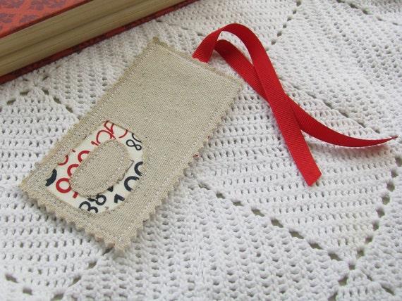 Monogrammed Bookmark - Initial D - Letter D - Teacher Gift - Wedding Favor