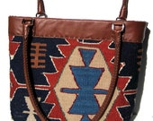Carpet Bag Hand Made From A Vintage Wool Kilim - Custom Order