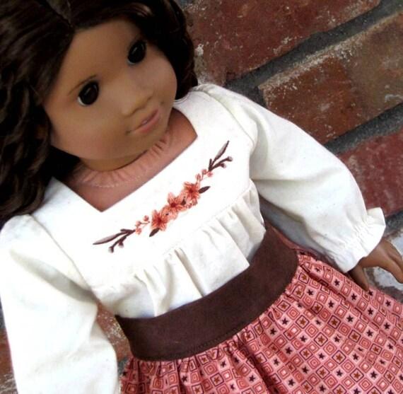 Josefina Birthday Dress: 18 Inch Doll Clothes American Girl Josefina Harvest Camisa And