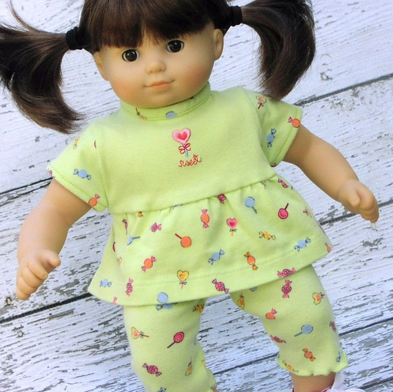 American Girl Bitty Baby Twin Doll Clothes top and capri's reconstructed Gymboree