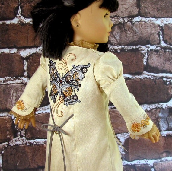 Time Traveler - American Girl Doll Clothes Embroidered Steampunk Shibua Summer Coat
