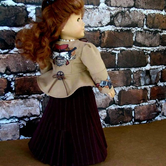 American Girl Doll Clothes Wild West Steampunk Outfit - Coat, Skirt, Camisole
