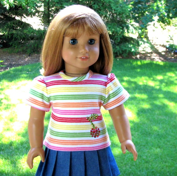Cherry Baby - American Girl Doll Clothes Reconstructed M2M Gymboree Tee Shirt