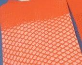 Orange Net Thigh High Stockings