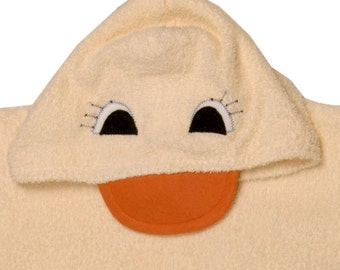 Duckie Hooded Towel fits up to size 6