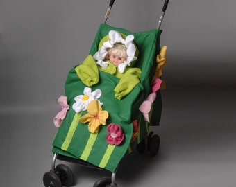 Super Cute and Unique Flower Cart Stroller Cover Costume
