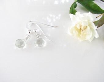 Green Amethyst - Prasiolite - Gemstone and Sterling Earrings