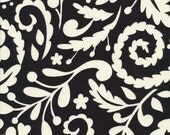 Dena Designs - McKenzie Silhouette Black - DF77 100% Quilters Cotton Available in Yards, Half Yards and Fat Quarters