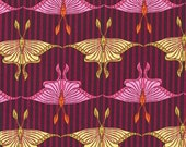 Raspberry -  Michael Miller Luna Moth - DC4103  100% Quilters Cotton Available in Yards, Half Yards and Fat Quarters