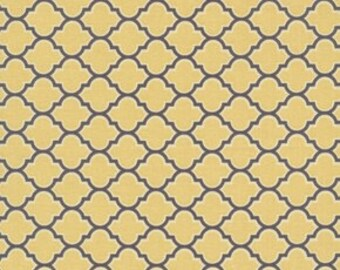 Vintage Yellow - Joel Dewberry - Aviary 2 Lodge Lattice JD46  100% Quilters Cotton Available in Yards, Half Yards and Fat Quarters