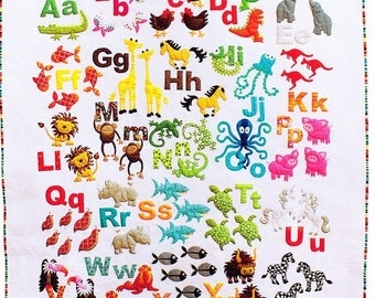 Animal Alphabet Quilt Pattern - From Don't Look Now