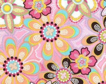 LAST 66 inches - Pink - Michael Miller - Flower Crystals Corduroy - CC2996