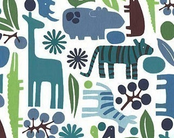 Pool - Alexander Henry 2-D Zoo available in Yards, Half Yards and Fat Quarters